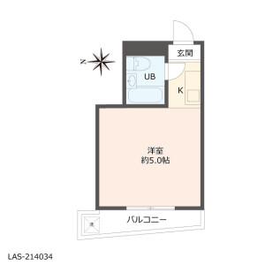 1R {building type} in Takaidohigashi - Suginami-ku Floorplan