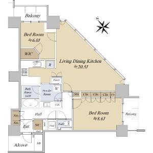 2LDK {building type} in Shinonome - Koto-ku Floorplan