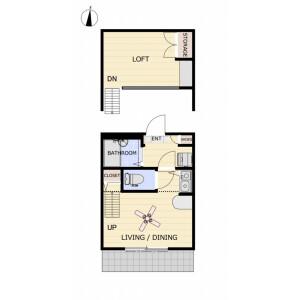 1R Mansion in Hyakunincho - Shinjuku-ku Floorplan