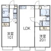 1LDK Apartment to Rent in Yokohama-shi Sakae-ku Floorplan