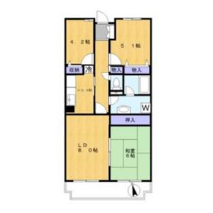 3LDK Mansion in Shimosakunobe - Kawasaki-shi Takatsu-ku Floorplan