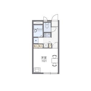 1K Apartment in Higashihanawada - Utsunomiya-shi Floorplan