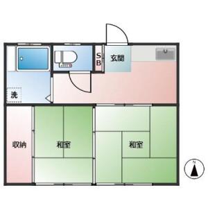 2K Apartment in Koenjiminami - Suginami-ku Floorplan