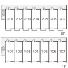 1K Apartment to Rent in Kai-shi Layout Drawing