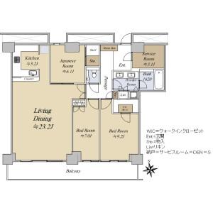 3LDK {building type} in Shinonome - Koto-ku Floorplan