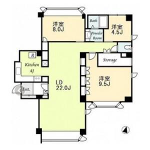 3LDK Mansion in Jingumae - Shibuya-ku Floorplan