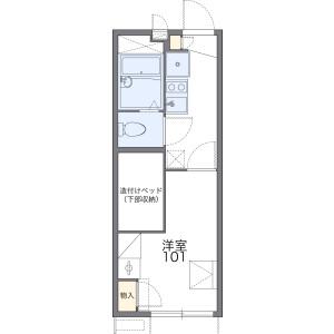 1K Apartment in Kawai honcho - Yokohama-shi Asahi-ku Floorplan
