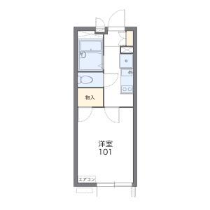 1K 아파트 in Fujimidai - Nerima-ku Floorplan