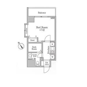 1K Mansion in Shimouma - Setagaya-ku Floorplan