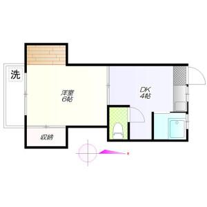 1DK Apartment in Matsubara - Setagaya-ku Floorplan