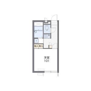 1K Apartment in Motoyoshidacho - Mito-shi Floorplan