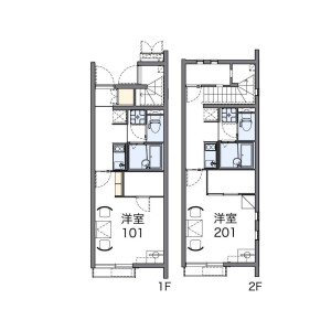 1K Apartment in Uchikamado - Beppu-shi Floorplan