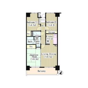 3LDK Mansion in Tomigaya - Shibuya-ku Floorplan