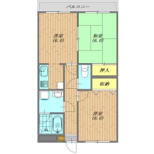 2DK Mansion in Funabori - Edogawa-ku Floorplan