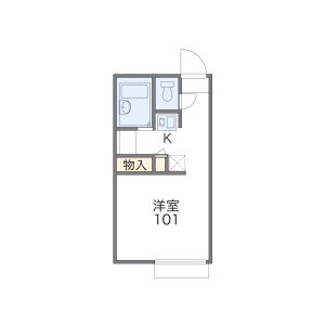 1K Apartment in Nomura - Kusatsu-shi Floorplan