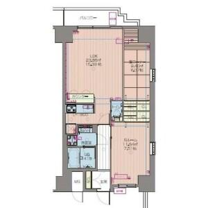 1LDK Mansion in Zaimokucho - Osaka-shi Chuo-ku Floorplan