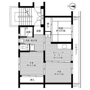 3DK Mansion in Takasai - Shimotsuma-shi Floorplan