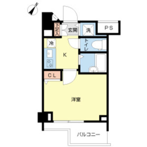 1K Mansion in Kitashinjuku - Shinjuku-ku Floorplan