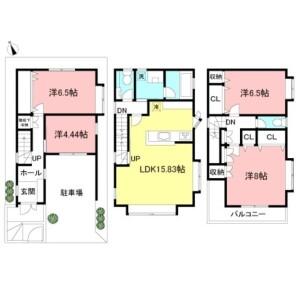 4LDK House in Shimouma - Setagaya-ku Floorplan