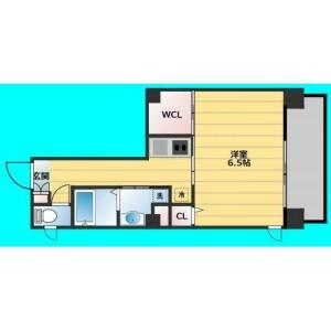 大阪市西區阿波座-1K公寓大廈 房間格局