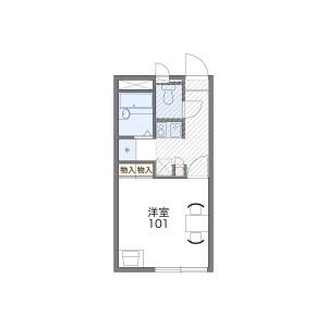 西宮市堤町-1K公寓 房間格局