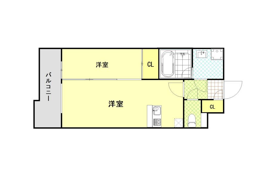 1LDK マンション 福岡市博多区 内装