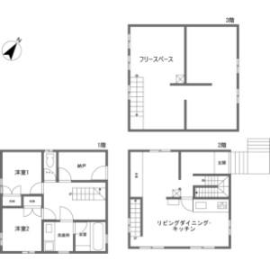 虻田郡新雪谷町ニセコ-2LDK{building type} 楼层布局