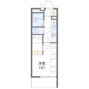 横浜市南区別所-1K公寓 楼层布局