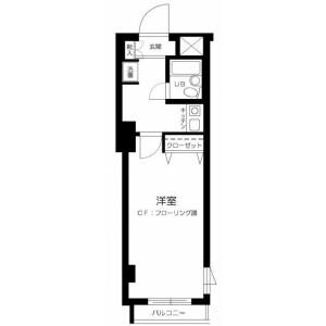 1K Mansion in Sendagi - Bunkyo-ku Floorplan