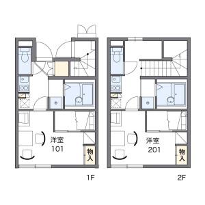 1K Apartment in Misuzu - Ina-shi Floorplan