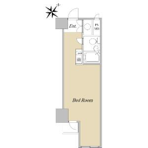1R {building type} in Nihombashikayabacho - Chuo-ku Floorplan