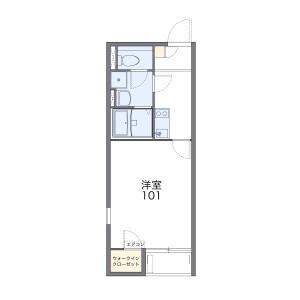 鶴ヶ島市藤金-1K公寓大廈 房間格局