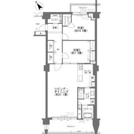 2LDK {building type} in Shimabuku - Nakagami-gun Kitanakagusuku-son Floorplan