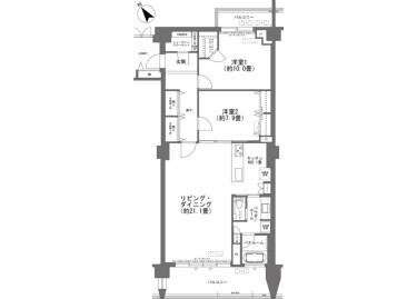 2LDK Apartment to Buy in Nakagami-gun Kitanakagusuku-son Floorplan