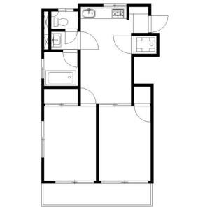 2DK Mansion in Meguro - Meguro-ku Floorplan