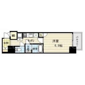 1K Mansion in Jusohommachi - Osaka-shi Yodogawa-ku Floorplan