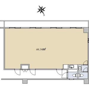 1R {building type} in Kandajimbocho - Chiyoda-ku Floorplan
