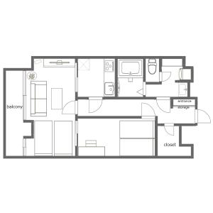 1LDK Mansion in Kuramae - Taito-ku Floorplan