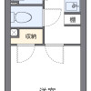 1K Apartment to Rent in Saitama-shi Chuo-ku Floorplan