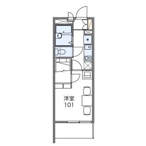 1K Mansion in Motonakayama - Funabashi-shi Floorplan