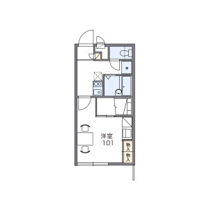 1K Apartment in Tamagawa - Chofu-shi Floorplan
