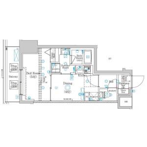 1DK Mansion in Yanaka - Adachi-ku Floorplan