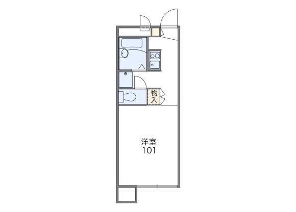 1K Apartment to Rent in Shizuoka-shi Aoi-ku Floorplan