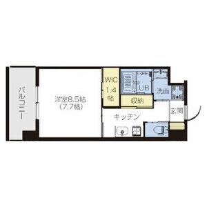 1K Mansion in Tomoi - Higashiosaka-shi Floorplan
