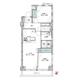 2LDK {building type} in Honcho - Itabashi-ku Floorplan