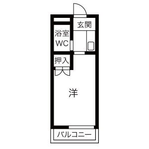 1K Apartment in Sonenji - Hirakata-shi Floorplan