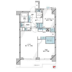 1SLDK {building type} in Ebisuminami - Shibuya-ku Floorplan