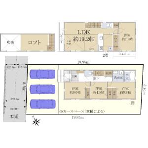 4LDK {building type} in Tamagawa - Chofu-shi Floorplan
