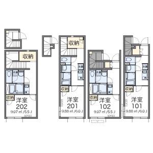 1K Apartment in Honan - Suginami-ku Floorplan