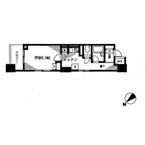 1K Mansion in Nihombashibakurocho - Chuo-ku Floorplan